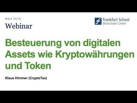 Besteuerung von digitalen Assets wie Kryptowährungen und Token