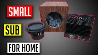 Sealed subwoofer box design for home theater