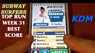 Subway Surfers Top Run Best Score!
