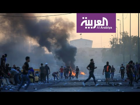 صور صادمة لعراقيين يسقطون قتلى خلال التظاهرات  - نشر قبل 2 ساعة