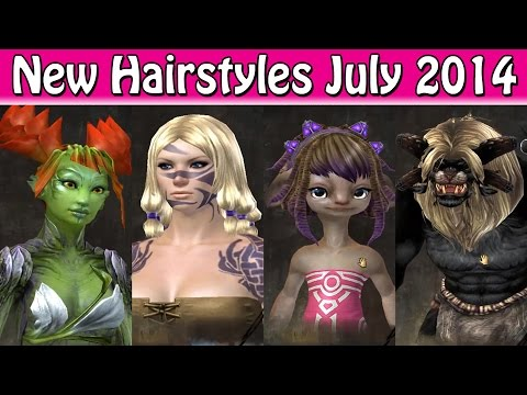 Guild Wars 2 New Hairstyles July 2014 YouTube