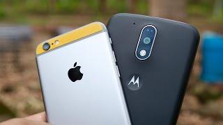 Moto G4 Plus vs iPhone 6S Camera Comparison Video
