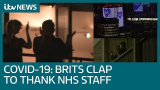 Brits clap to thank NHS workers for help during coronavirus outbreak