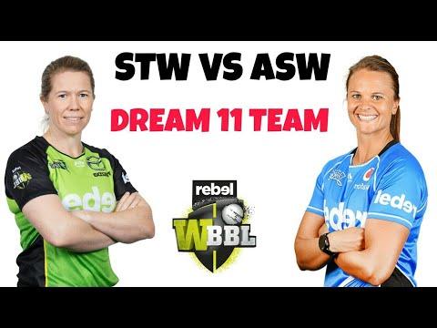 STW VS ASW DREAM 11 TEAM WOMEN BIG BASH