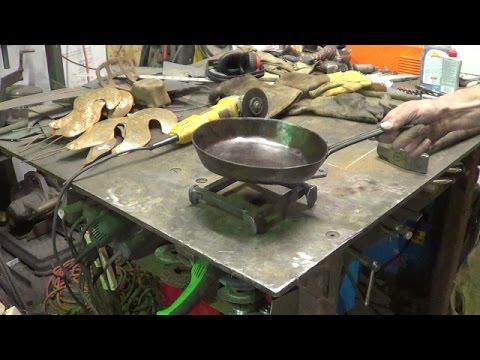 Blacksmithing - Forging A Railroad Spike Trivet