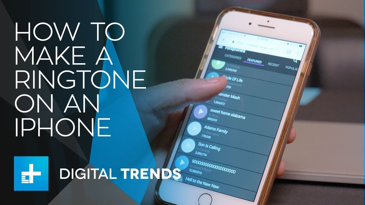 how to make iphone ringtone from video