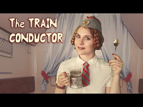 ASMR - Travelling ♥ THE TRAIN CONDUCTOR ♥ In English with RUSSIAN ACCENT. Adventure, Sound of Wheels