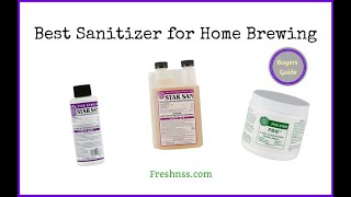 Best Sanitizer for Home Brewing (2019 Buyers Guide)