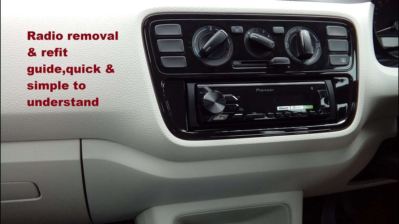 vw up 2010 1015 radio removal refit guide with part. Black Bedroom Furniture Sets. Home Design Ideas