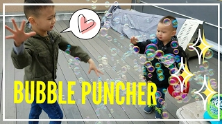 KIDS PLAY BUBBLES ON THE ROOF / WARM SPRING OUTDOOR FAMILY FUN VLOG