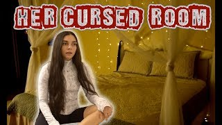 We Investigate Her Supposedly Cursed/ Haunted Room!!! (scary)
