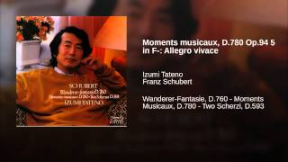 Moments musicaux, D.780 Op.94 5 in F-: Allegro vivace