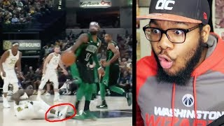 NBA BEST ANKLE BREAKERS and CROSSOVERS PART 3! MASKED KYRIE IRVING NASTY SPIN MOVE! REACTION