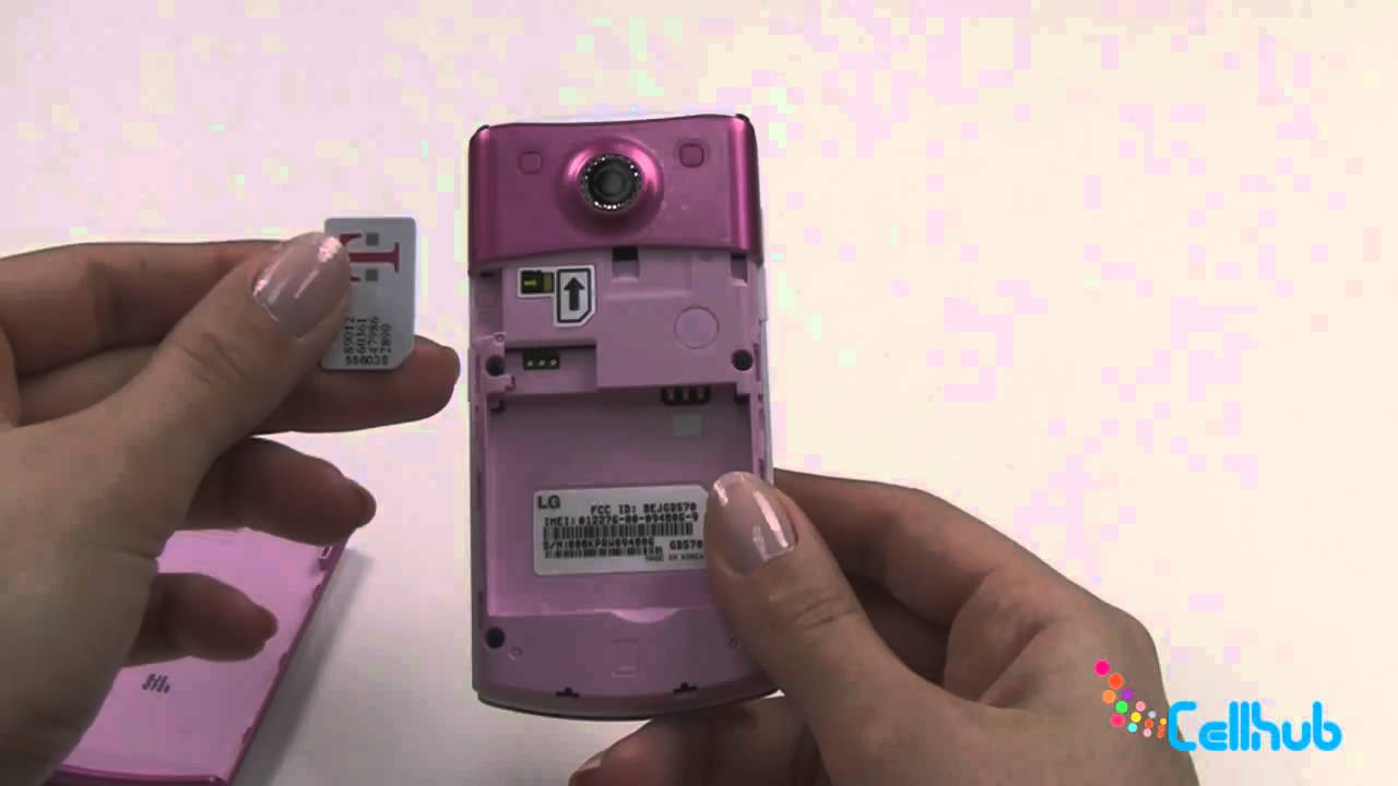 LG DLite Install Sim Card and Battery - YouTube
