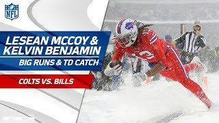 LeSean McCoy's Amazing Runs in the Snow & Kelvin Benjamin's TD! | Colts vs. Bills | NFL Wk 14