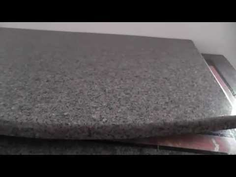 Granite Tile Countertop With Curved Edge Youtube