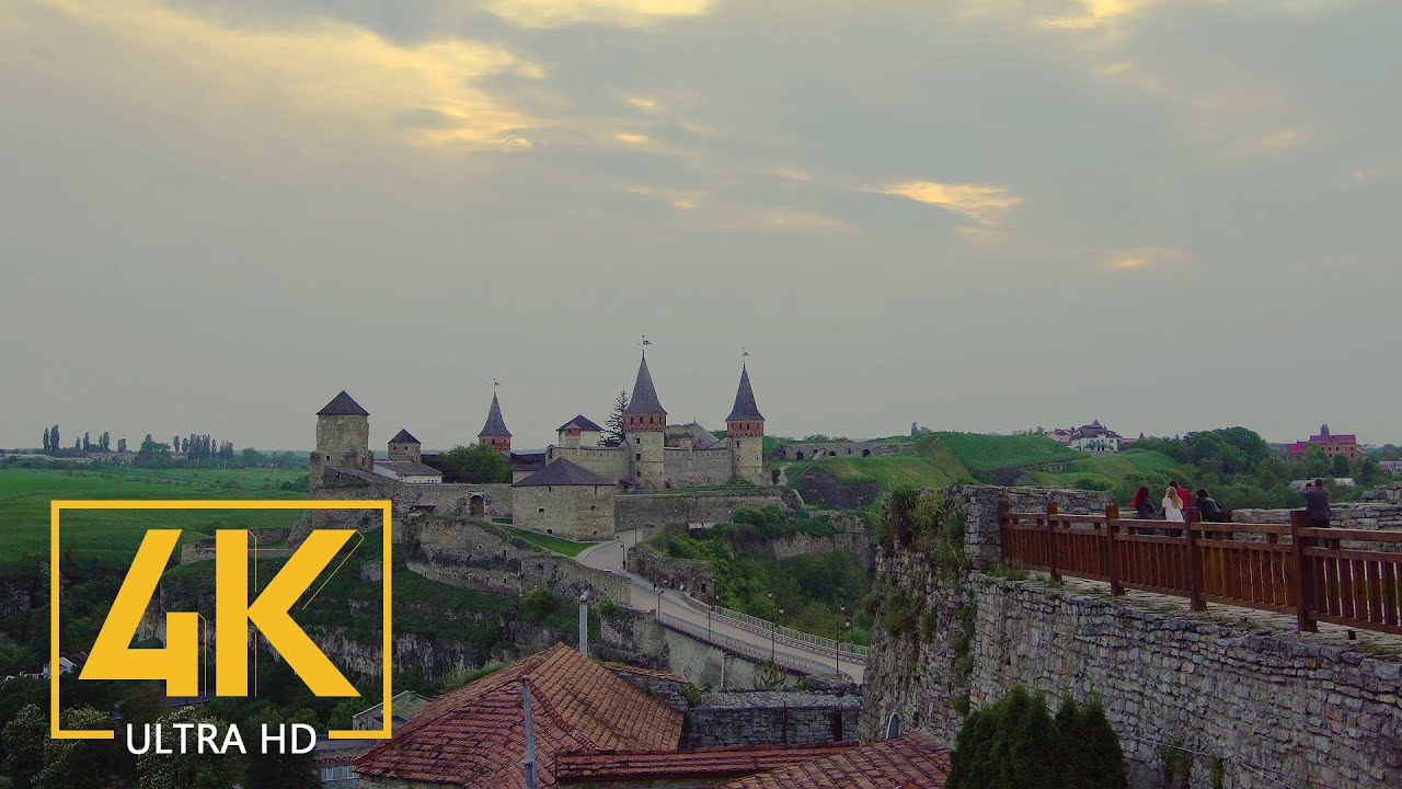 Kamianets Podilskyi Fort, Ukraine in 4K City Life Video – Ukraini