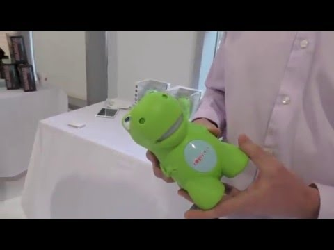 CogniToys Talking Dino Smart Toy Powered By IBM Watson, First Look Toy Fair 2016