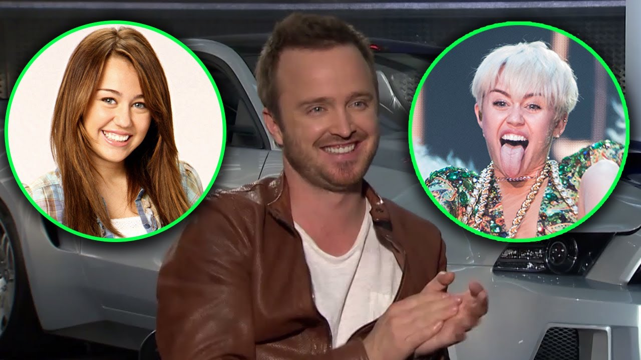 """Aaron Paul Loves Which Miley Cyrus? """"Need for Speed"""" Cast ...  Aaron Paul Love..."""