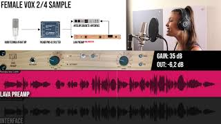 TIERRA Audio LAVA Preamp | FEMALE VOX Samples
