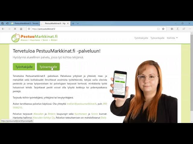 Pestuumarkkinat.fi - ohjevideo työnantajalle