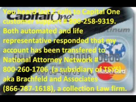 Capital One's trick of PARKING charged off credit card account to a law firm