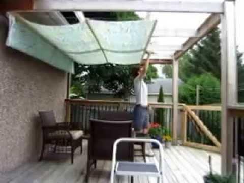 DIY Retractable Pergola Canopy Awning - YouTube