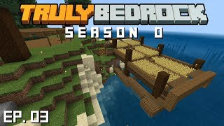 Truly Bedrock s0 e3:  Finishing the wheat farm, and starting a project with SlackLizard