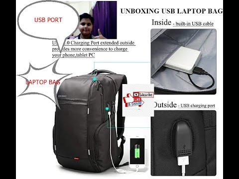 unboxing-laptop-bag-with-usb-charging-port