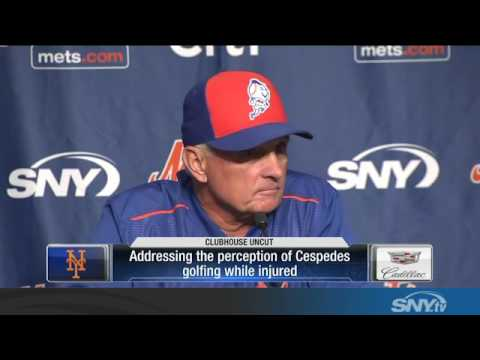 "Terry Collins on Yoenis Cespedes and golf: ""Don't Go There"""