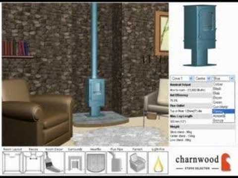 Web3D Fire and Stove Configurator