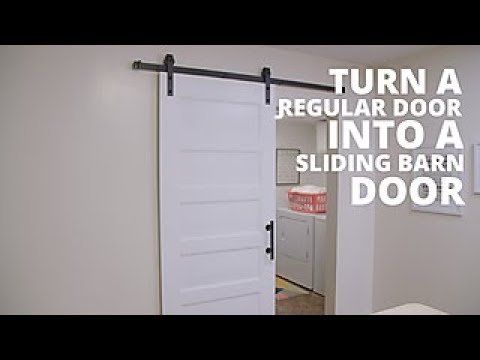 Diy sliding barn door on a budget hgtv youtube - How to install an exterior sliding barn door ...