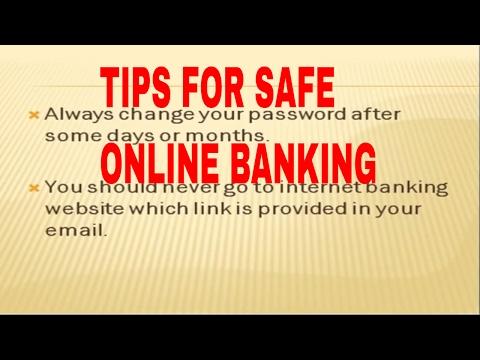safe banking tips