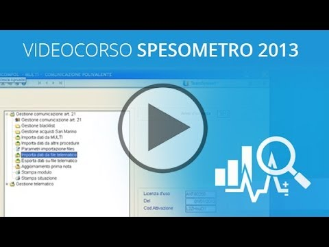 Video corso Spesometro 2013 HD