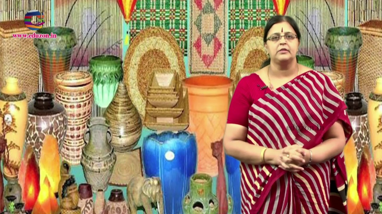 Handicrafts And Handlooms 7th Class Social Studies 2018 Youtube