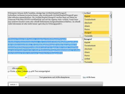 Online text spinner
