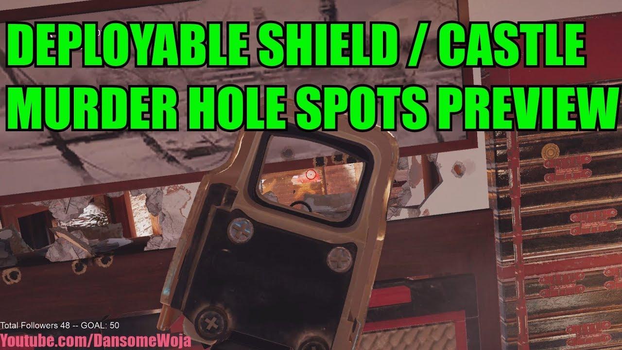 Deployable Shield/Castle Murder Holes Preview - Cuba Update - Rainbow Six Siege