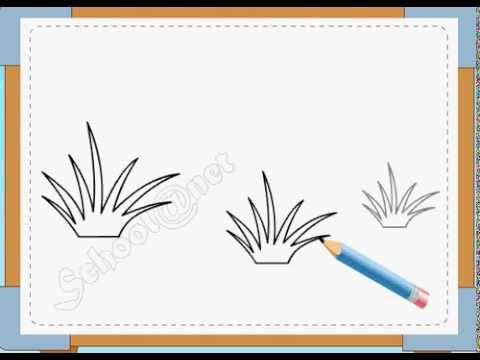 BÉ HỌA SĨ - Thực hành tập vẽ 10: Vẽ cỏ