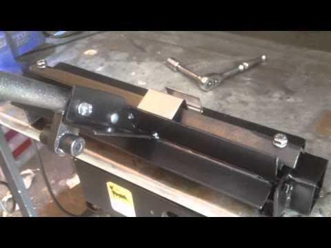 DIY sheet metal bench bending machine project