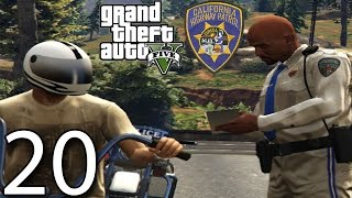 GTA V Police Mod 1.0c Day 20 - Highway Patrol Bike!