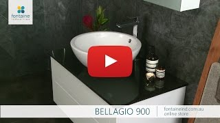 Bellagio Bathroom Vanity Wall Hung Ceramic Basin Stone 900 [fontaineind.com.au]