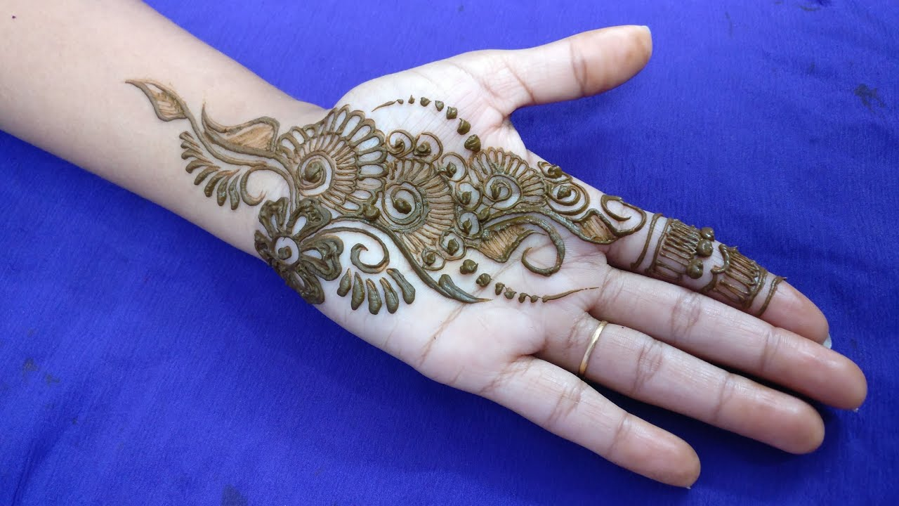 Simple Mehndi design for Palm 2018