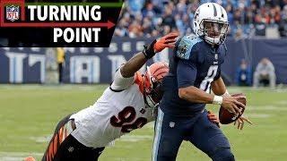 Marcus Mariota Stays Calm in Pressure Moments Against Bengals (Week 10) | NFL Turning Point