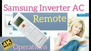 samsung inverter ac remote functions manual