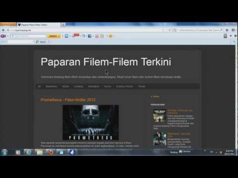 Cara Download Movie Torrent guna Vuze dari layanwayang.net