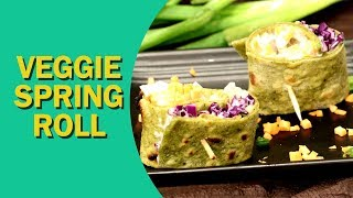 Veggie Spring Roll   Spring Rolls Recipe   वेज स्प्रिंग रोल   Healthy Spring Rolls   Food Tak
