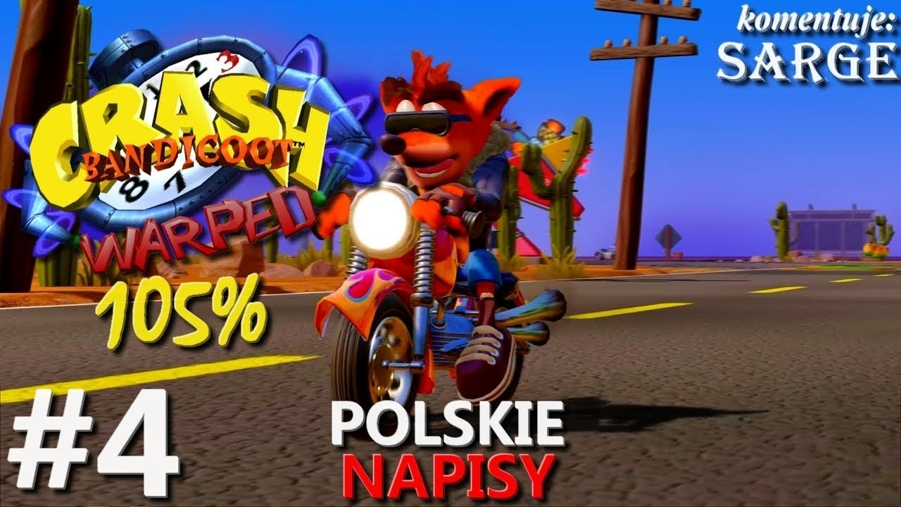 Zagrajmy w Crash Bandicoot 3 PS4 Remake (105%) odc. 4 – Władca czasu | napisy PL | 1440p