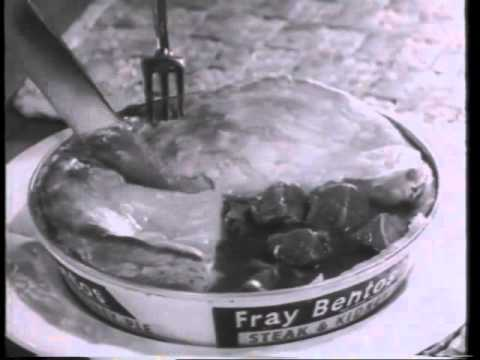 "Possibly the worst commercial ever made - Fray Bentos ""man's food"""