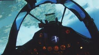 Fighter Jet Simulator (real J35 cockpit) - Flying, intercept and landing
