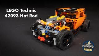 LEGO Technic 42093 Hot Rod (Corvette B model) speed build and review